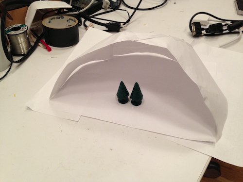 Mini paper prototype with help from Kyle Li.