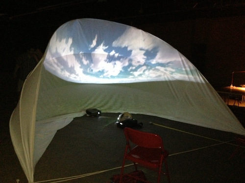Testing projection on dome.