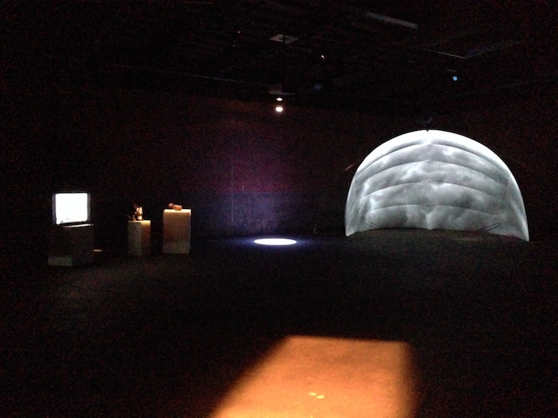 Dome setup in Eyebeam.