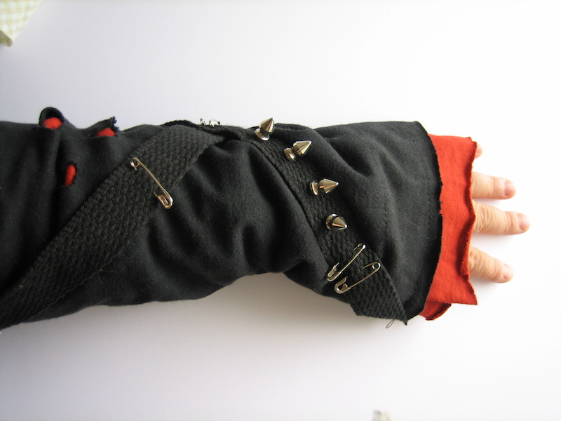 Punk sleeve.Touch the spikes!