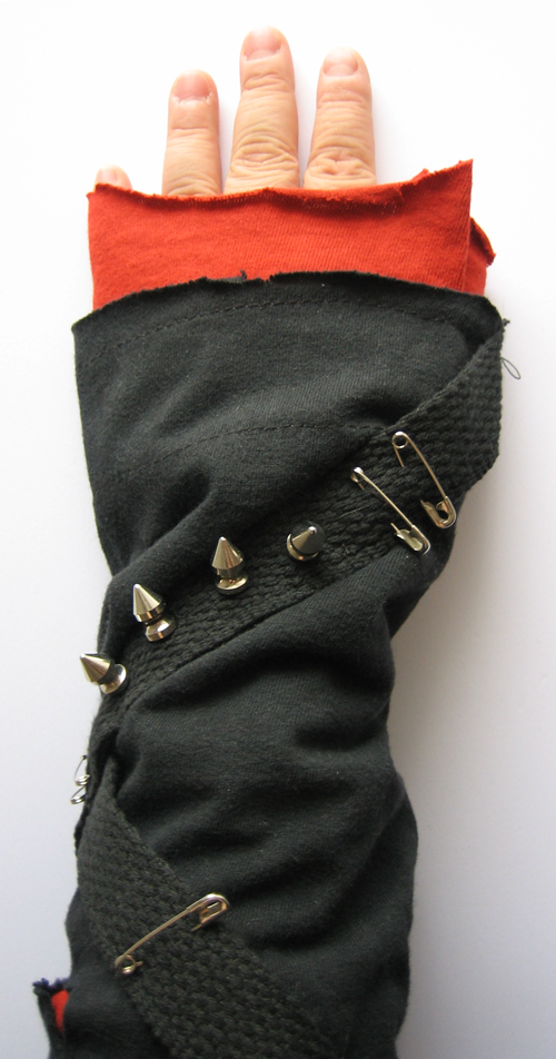 The punk sleeve from the Sleeve Station. Touch the spikes to control the mp3 player.